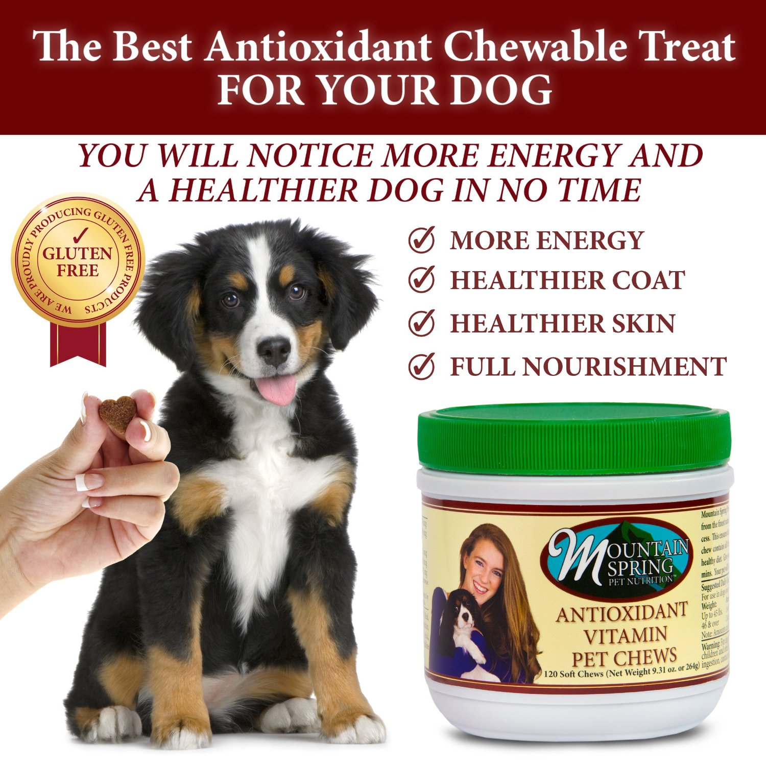 Notice more energy and a healthier dog